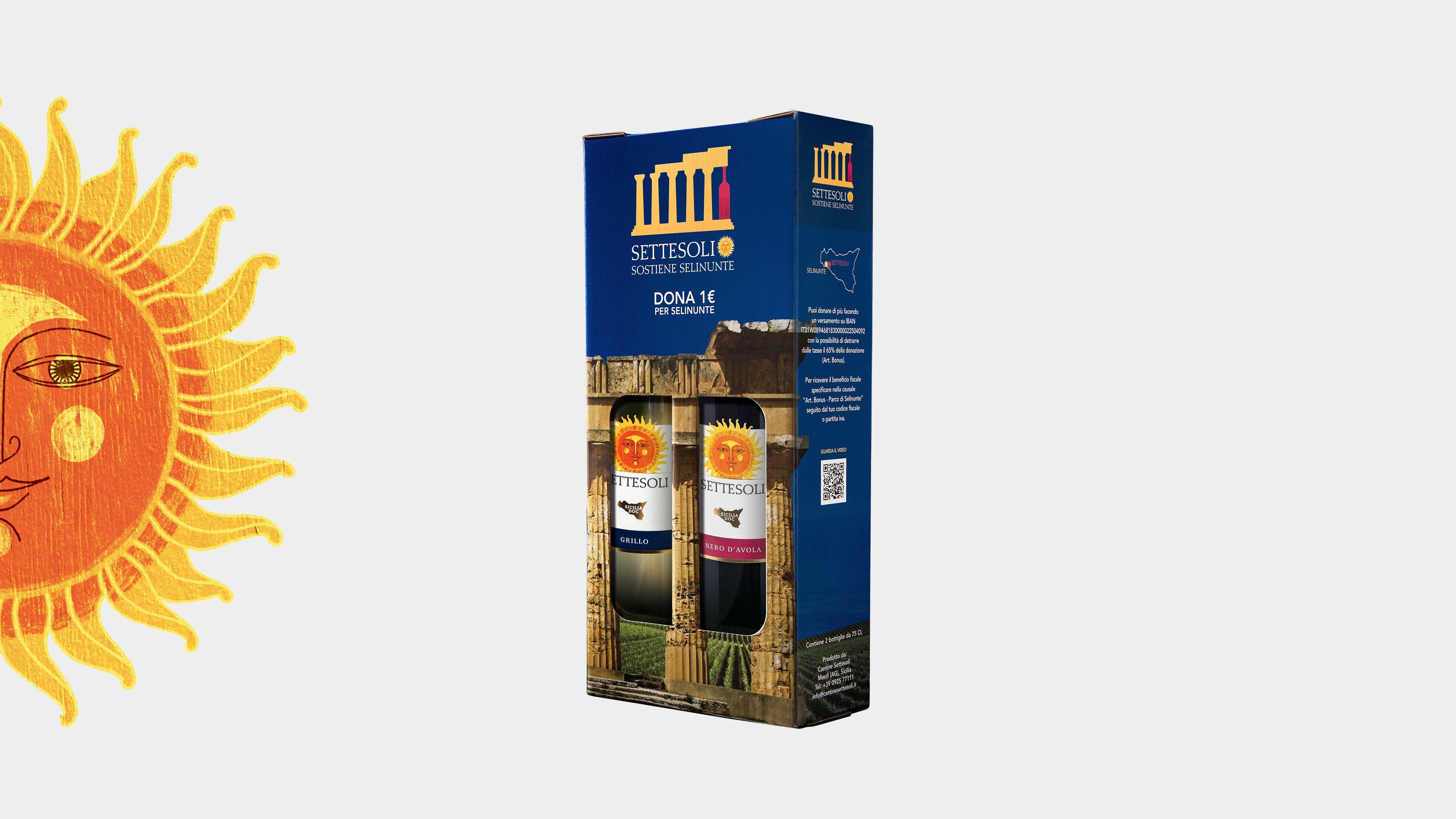 Confezione da 2 bottiglie Settesoli Sostiene Selinunte